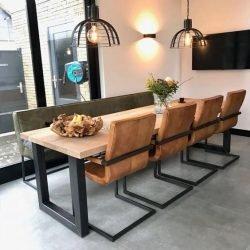 scaune piele cu cardu metalic