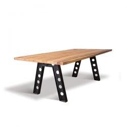 masa lemn masiv cu picioare metalice