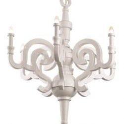 candelabru alb clasic