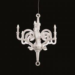 candelabru clasic alb