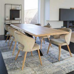 set scaune si masa lemn masiv